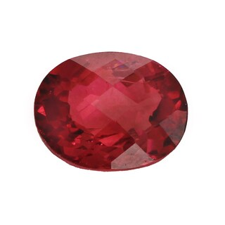Loose Oval Check Top Pink Tourmaline 14.8x11.7mm 8.92ct Gemstone