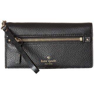 Kate Spade New York Cobble Hill Rae Black Leather Wristlet Wallet