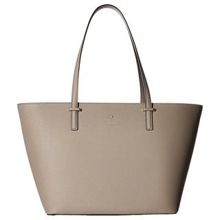 Kate Spade New York Cedar Street Small Harmony Porcini Beige Leather Tote