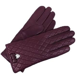 Coach Women's Plum Quilted Leather Gloves|https://ak1.ostkcdn.com/images/products/13784427/P20435905.jpg?impolicy=medium
