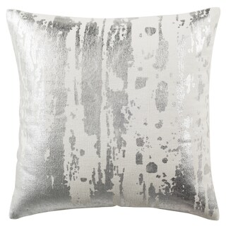 Safavieh 20-inch Metallic Splatter White Decorative Pillow