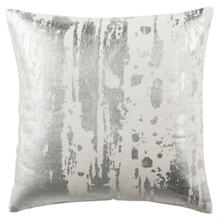 Safavieh 20-inch Metallic Splatter White Decorative Pillow