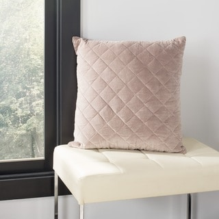 Safavieh 22-inch Harper Quilt Rose Decorative Pillow