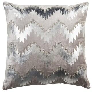 Safavieh 18-inch Sophia Flamestitch Silver Decorative Pillow