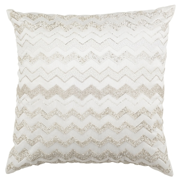 Safavieh 18-inch Olivia Flamestitch Pearl Decorative Pillow