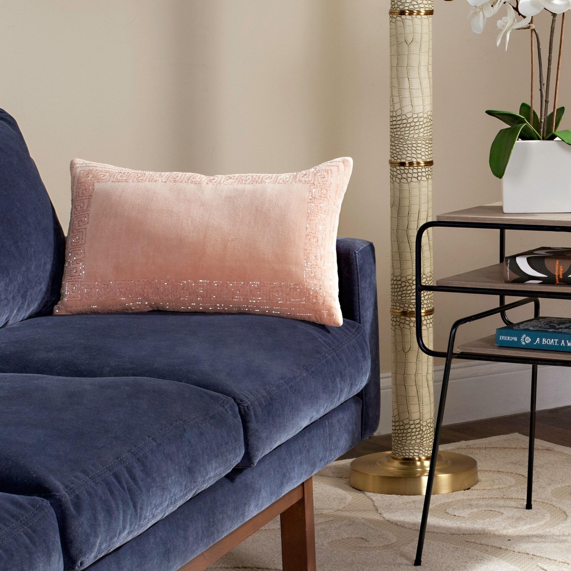 Safavieh 20 Inch Morrocan Border Blush Decorative Pillow Overstock 13784459