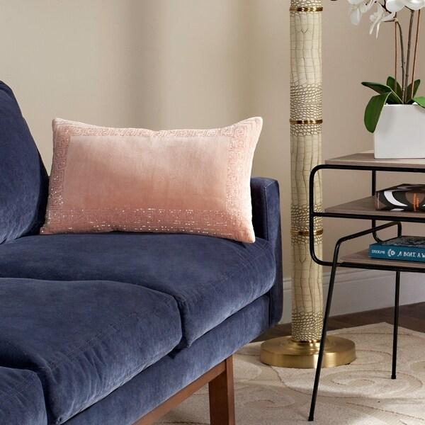 Safavieh 20-inch Morrocan Border Blush Decorative Pillow
