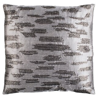Safavieh 18-inch Jasper Slash Grey Decorative Pillow