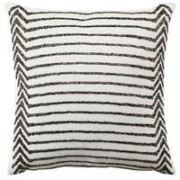 Safavieh 18-inch Emilia Stripe Creme Decorative Pillow