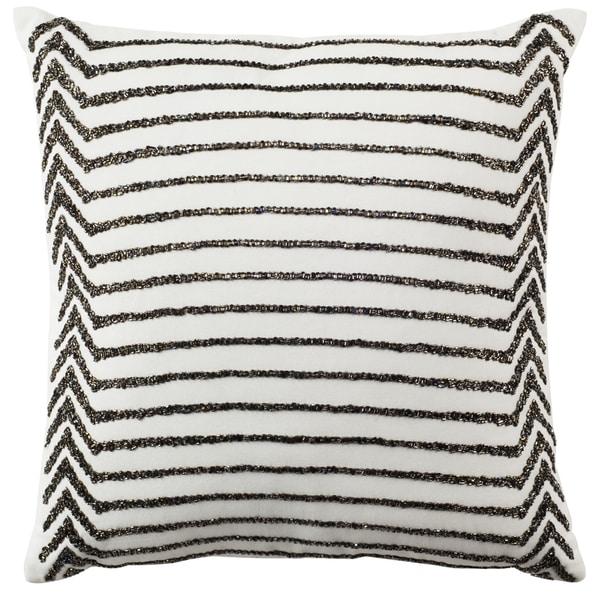 SAFAVIEH 18-inch Emilia Stripe Creme Decorative Pillow. Opens flyout.