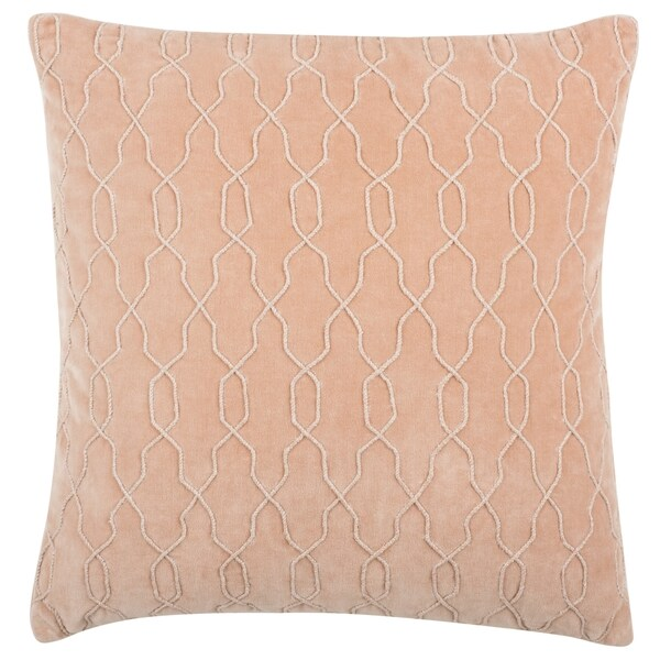 Shop Safavieh 40inch Kas Link Blush Decorative Pillow On Sale Custom Blush Decorative Pillows