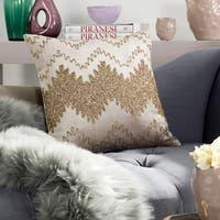 Safavieh 18-inch Gold Sparkle Gold Decorative Pillow