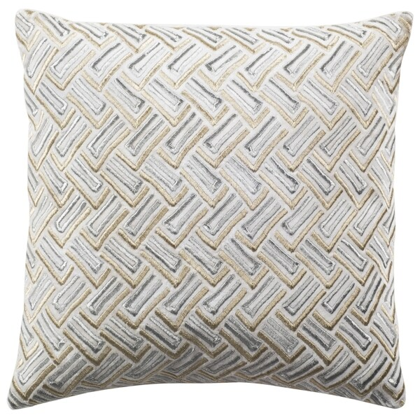 Shop Safavieh 40inch Metallic Grey Gold Decorative Pillow On Extraordinary Grey And Gold Decorative Pillows