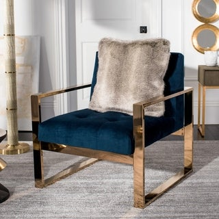 Safavieh 20-inch Wavy Luxe Grey Decorative Pillow