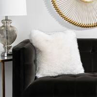 Safavieh 20-inch Faux Dalmation Tips Milk / Chocolate Decorative Pillow