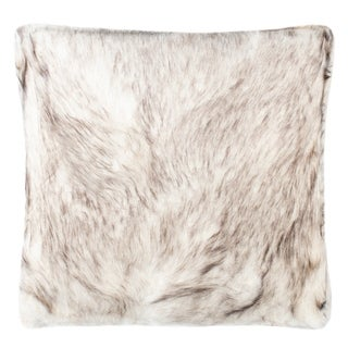 Link to Safavieh 20-inch Coco Tips Taupe Decorative Pillow Similar Items in Decorative Accessories