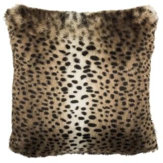 Safavieh 20-inch Faux Leopardis Black / Brown Decorative Pillow