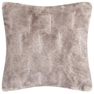 Safavieh 20-inch Faux Chinchilla Grey Decorative Pillow