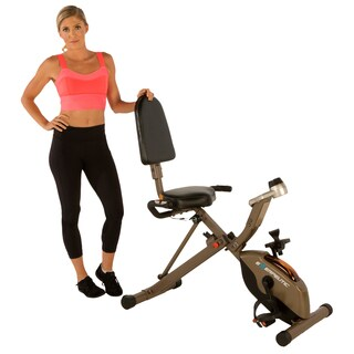 Exerpeutic GOLD 525XLR Folding 400 Lb Capacity Recumbent Exercise Bike