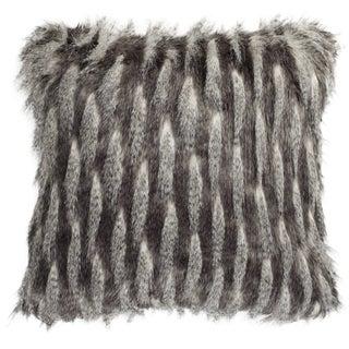 Safavieh 20-inch Faux Pheasant Black / Grey Decorative Pillow