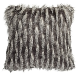 Link to Safavieh 20-inch Faux Pheasant Black / Grey Decorative Pillow Similar Items in Decorative Accessories