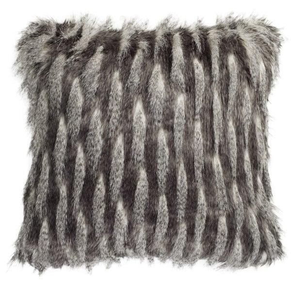Safavieh 20-inch Faux Pheasant Black / Grey Decorative Pillow. Opens flyout.