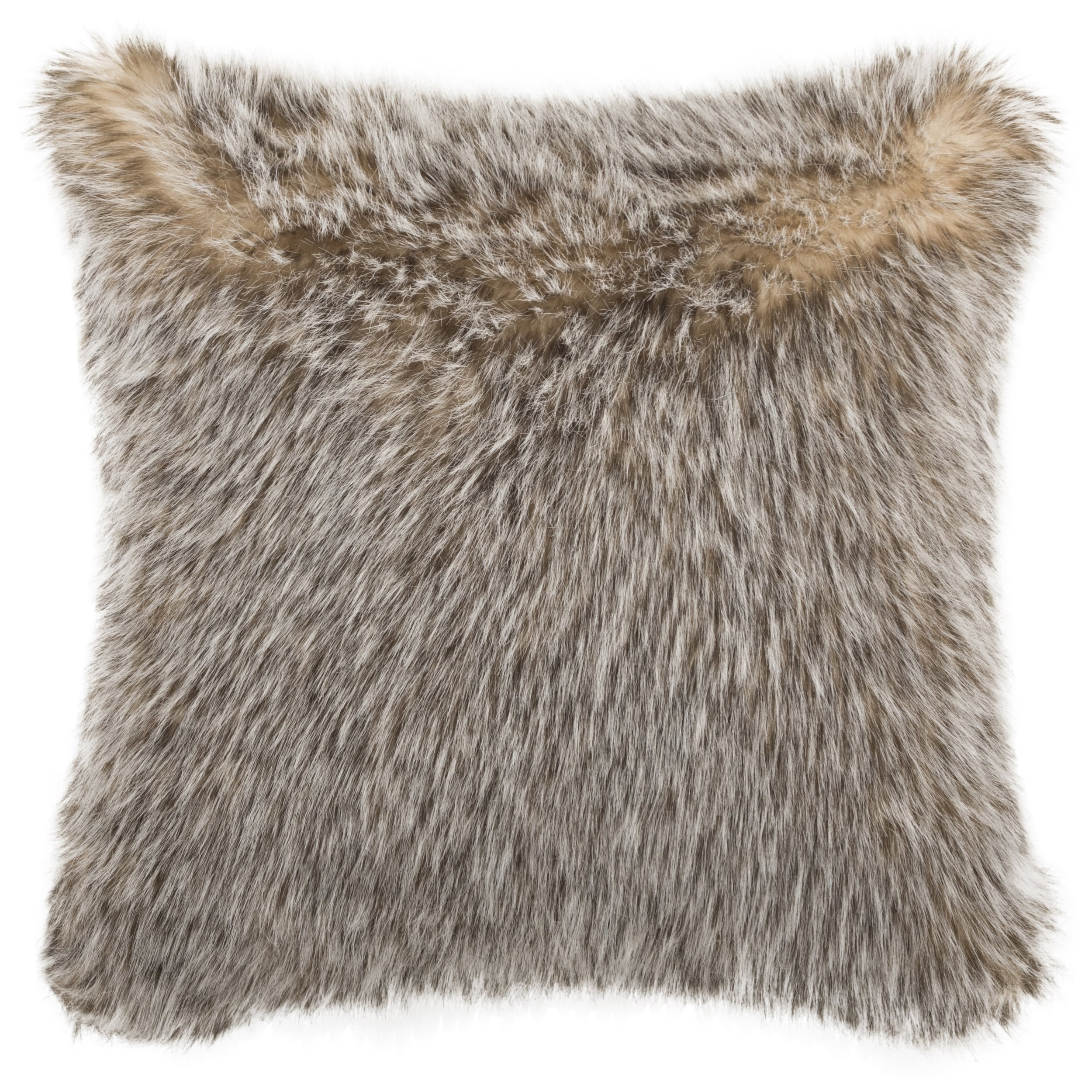 Safavieh 20 Inch Dusty Fur Grey Decorative Pillow