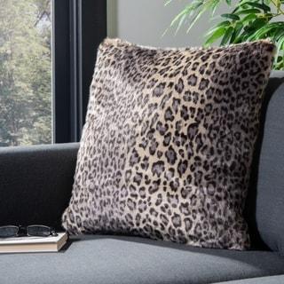 Safavieh 20-inch Faux Black Leopard Leopard Decorative Pillow