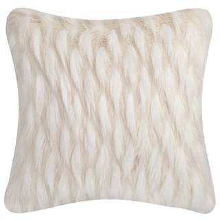 Safavieh 20-inch Luxe Feather White Decorative Pillow