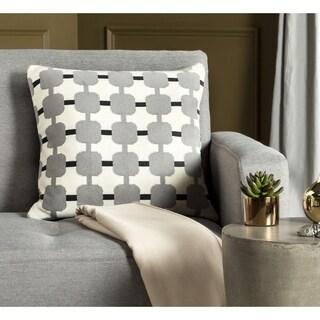 Safavieh 20-inch Retro Square Light Grey / Dark Grey Decorative Pillow