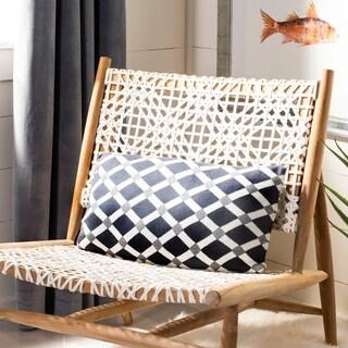 Safavieh 20-inch Diamond Knit Dark Grey / Natural Decorative Pillow