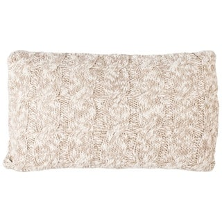 Safavieh 20-inch Chunky Knit Stone / Natural Decorative Pillow