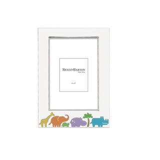 Reed Barton Jungle Parade Silver Metal 4-inch x 6-inch Frame