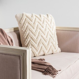 Safavieh 20-inch Jumbo Chevron Loop Natural Decorative Pillow