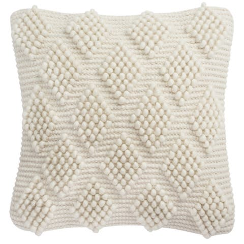 Safavieh 20-inch Spaced Diamond Loop Natural Decorative Pillow
