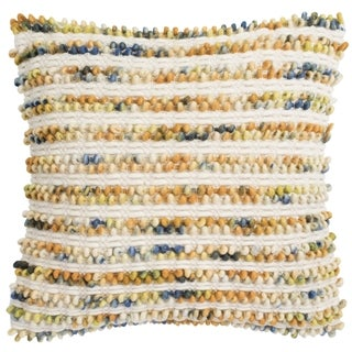 Safavieh 20-inch Thin Striped Looped Apricot Blend Decorative Pillow
