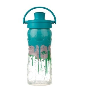 Lifefactory Multicolored Silicone Glass Bottle with Active Flip Cap