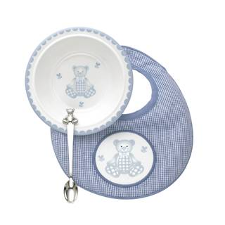 Reed Barton Gingham Bear 3-piece Gift Set
