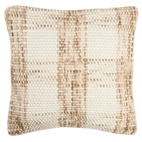 SAFAVIEH 20-inch Woven Plaid Decorative Pillow