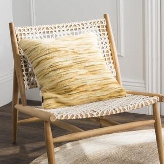 Safavieh 20-inch Tight Weave Mustard / Multi Decorative Pillow