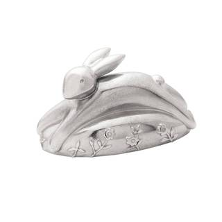 Reed Barton Silver Pewter Quilted Rabbit Musical