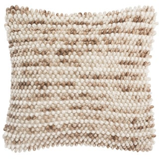Safavieh 20-inch Pin Striped Loop Eggshell Blend Decorative Pillow