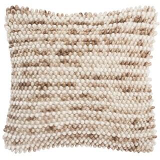 Safavieh 20-inch Pin Striped Loop Eggshell Blend Decorative Pillow