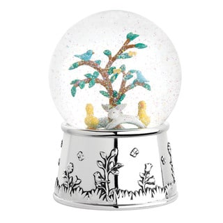 Reed & Barton Quilted Rabbit Waterglobe