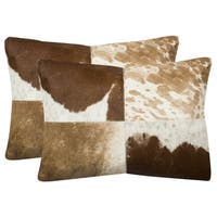 Safavieh 20-inch Carley Tan/White Decorative Pillow (Set Of 2)