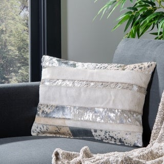 Safavieh 20-inch Peyton Silver Decorative Pillow (Set Of 2)