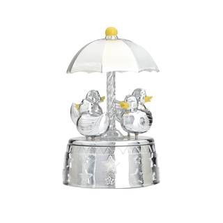 Reed & Barton Something Duckie Silver Metal Musical Carousel