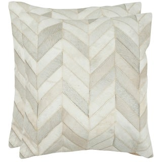 Safavieh 20-inch Marley White Decorative Pillow (Set Of 2)