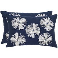Safavieh 18-inch Bellissima Sapphire Decorative Pillow (Set Of 2)