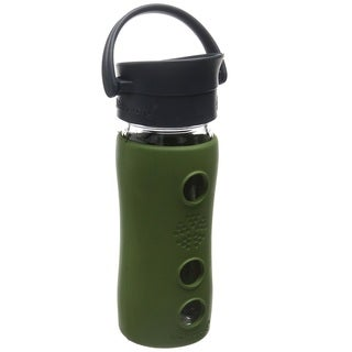 Lifefactory Green Insulated Glass Hot Tea and Coffee Travel Mug With Cafe Cap